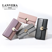 The new Korean version of the women 's long leather wallet clutch