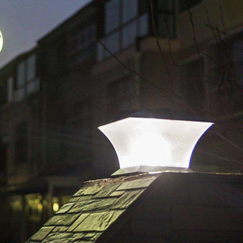 Led solaire pilier veilleuse pont Cap lampe jardin cour Lanter extérieur
