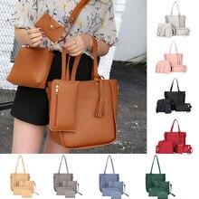 Женская сумка, новинка, модная сумка через плечо из четырех частей, сумка-почтальон, кошелек, сумочка, сумки для женщин,, bolsa feminina