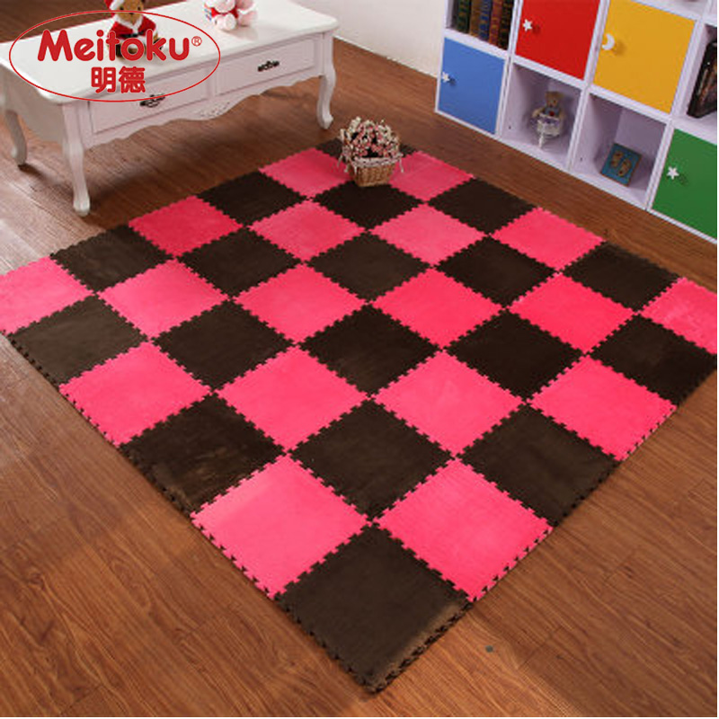 Meitoku Soft EVA Foam puzzle crawling mat;10pcs wood interlock floor ...