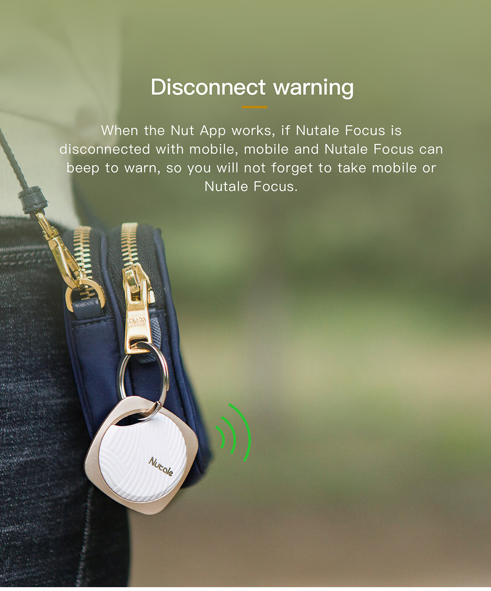 NUT Focus F9 Bluetooth Tracker Anti Lost Reminder Finder Pet Wallet Phone Finder Alarm for Smartphone - wearable-devices, smart-electronics, smart-activity-trackers