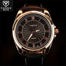 YAZOLE Antiguo Reloj de pulsera Hombres 2016 de la Marca de Lujo Famoso Reloj Masculino Reloj de Cuarzo Retro Hodinky Cuarzo Reloj Relogio masculino C87