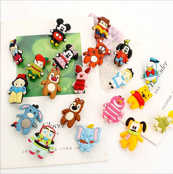 Creative Cute Cartoon Safety Pin Badge PVC Soft Rubber