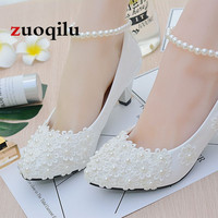 Sexy White Wedding Shoes Bridal High Heels Shoes Women Pumps High Heel Party Dress Shoes