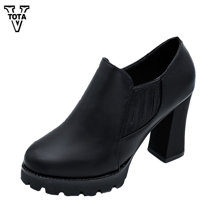 VTOTA Leisure Platform Pumps Waterproof Shoes Woman High Heels Wedges Women Shoes Round Head Zapatos Mujer Female Pumps FC10 купить