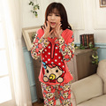 Pyjama Femme Home Cothing Pigiami Pijamas Mujer Pijama Feminino Female Long-sleeve Pajama Pants Milk Silk Pajamas Suits