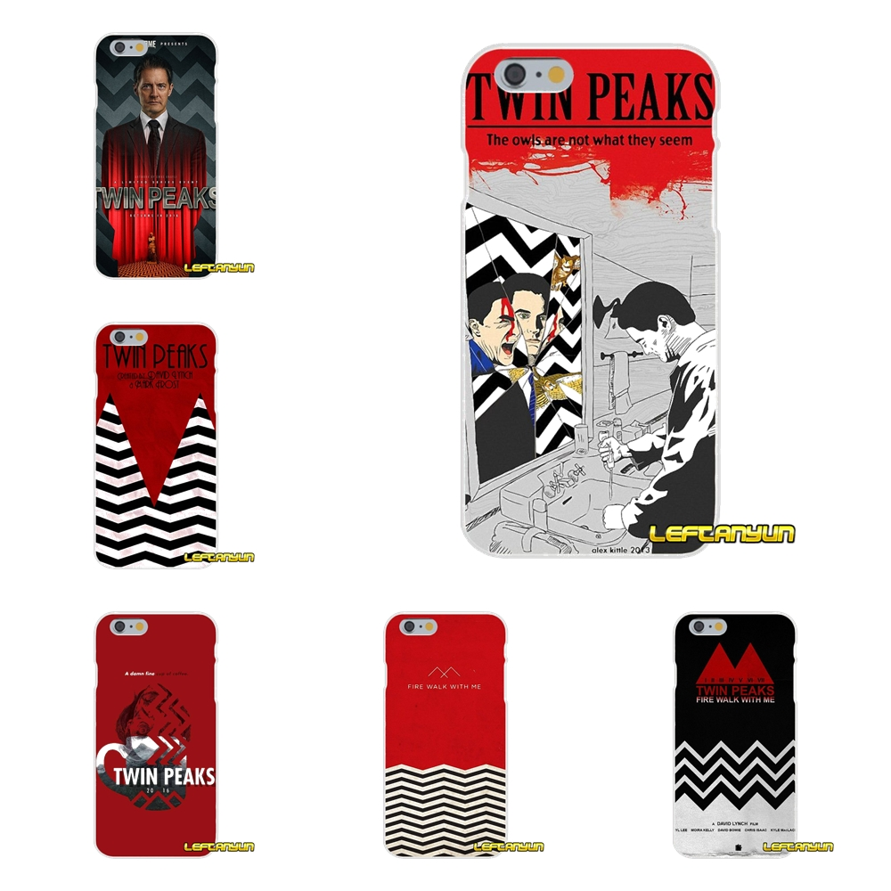Twin Peaks Soft Silicone phone Case For iPhone X 4 4S 5 5S 5C SE 6 6S 7 8 Plus