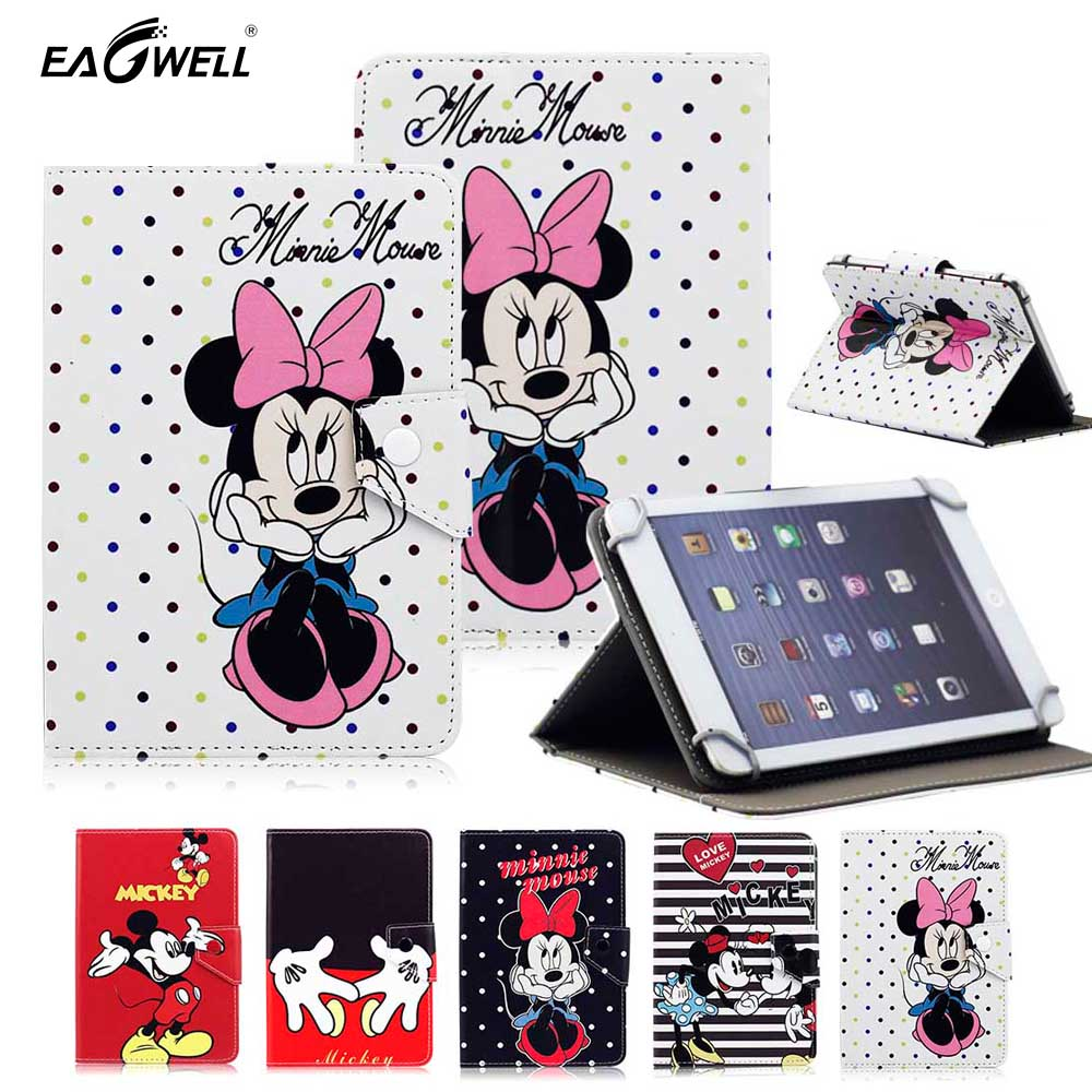 Cartoon Universal Tablet Case for 9.7 inch 10 inch 10.1 inch Tablet PC Flip Stand Magnetic Print PU Leather Cover Sleeve Funda universal 9 7 10 inch tablet pc wallet pu leather case for irbis tw21 10 1 inch table stand cover center flim pen kf553c