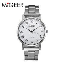 Watch Willby Quartz Watch Women's MINGEER Brand Silver Strap Roman Numerals Wrist Watch Drop Shipping 170302