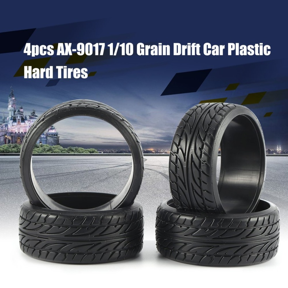 4pcs <font><b>RC</b></font> On-road Car Tyre <font><b>1/10</b></font> Medium Grain <font><b>Drift</b></font> Plastic Hard Tire 26mm for <font><b>Wheels</b></font> KYOSHO TAMIYA HPI Redcat Racing HSP <font><b>RC</b></font> Car image