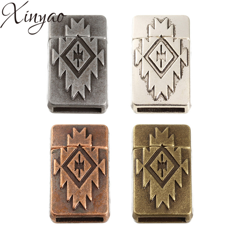 XINYAO 5pcs Flat Magnetic Clasps Fit 10*2mm Leather Bracelet Necklace Bronze End Clasps Connectors For Jewelry Making F5398