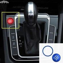 Para vw touareg altas cc t-roc touran tiguan botão de parada de partida do motor do carro anel interruptor sistema keyless guarnição capa atualizar adesivo