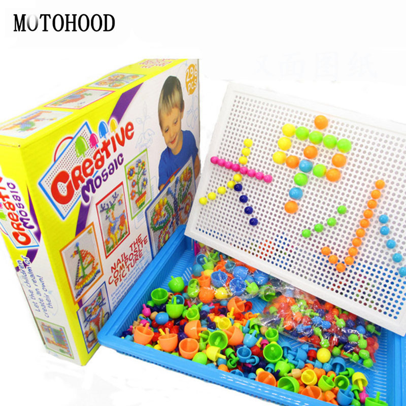 MOTOHOOD 290pcs Nail Bullet Intelligence Toys Girl Boy Assemblage Models & Building Toys For Children Kids Plastic Blocks kids magnetic building blocks toys for children assemblage plastic abs irregular shape block gifts for the new year