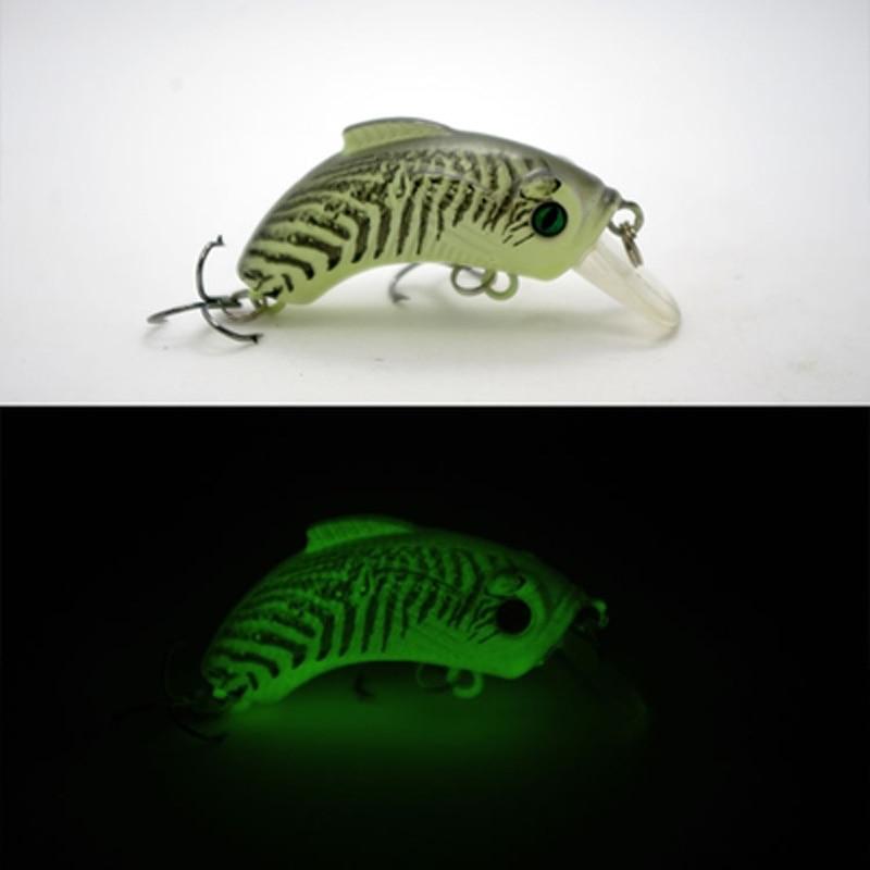 Leurres de pêche de nuit coulant lentement Minnow 50mm 9g Leurre - Pêche