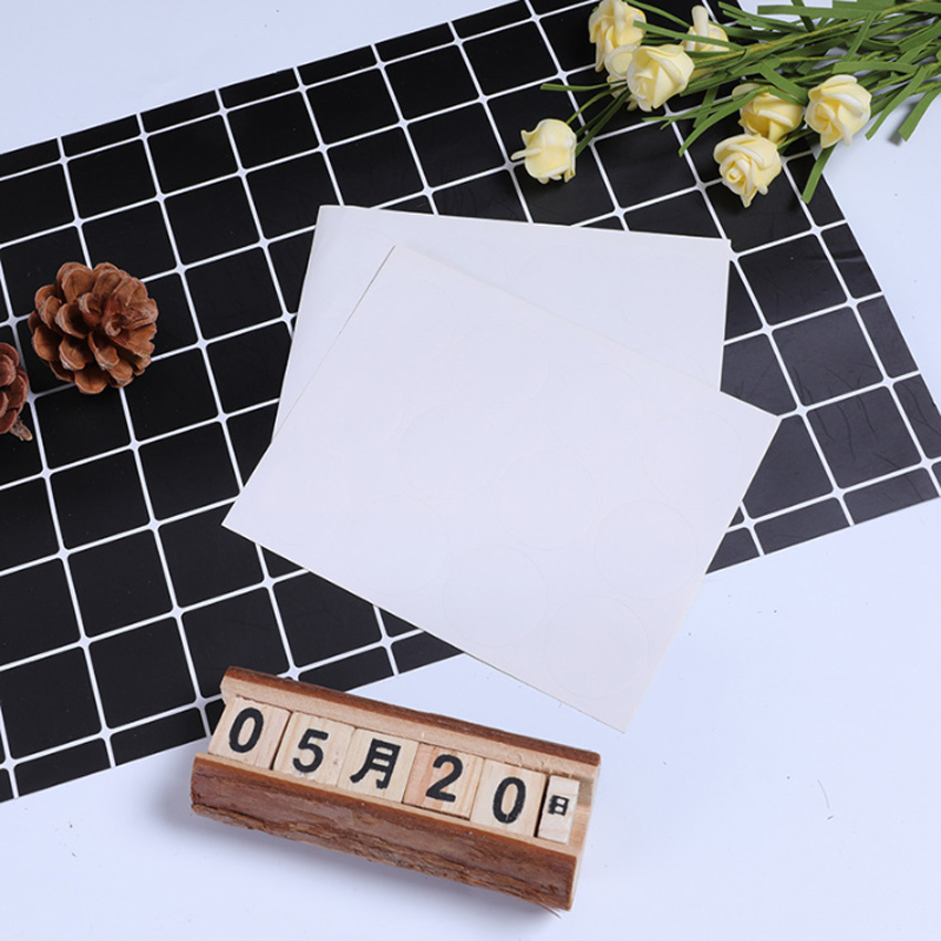 120pcs/lot Cute White Color  Round Self-adhesive Sealing Label Stickers Gift Bag Candy Box Decorate