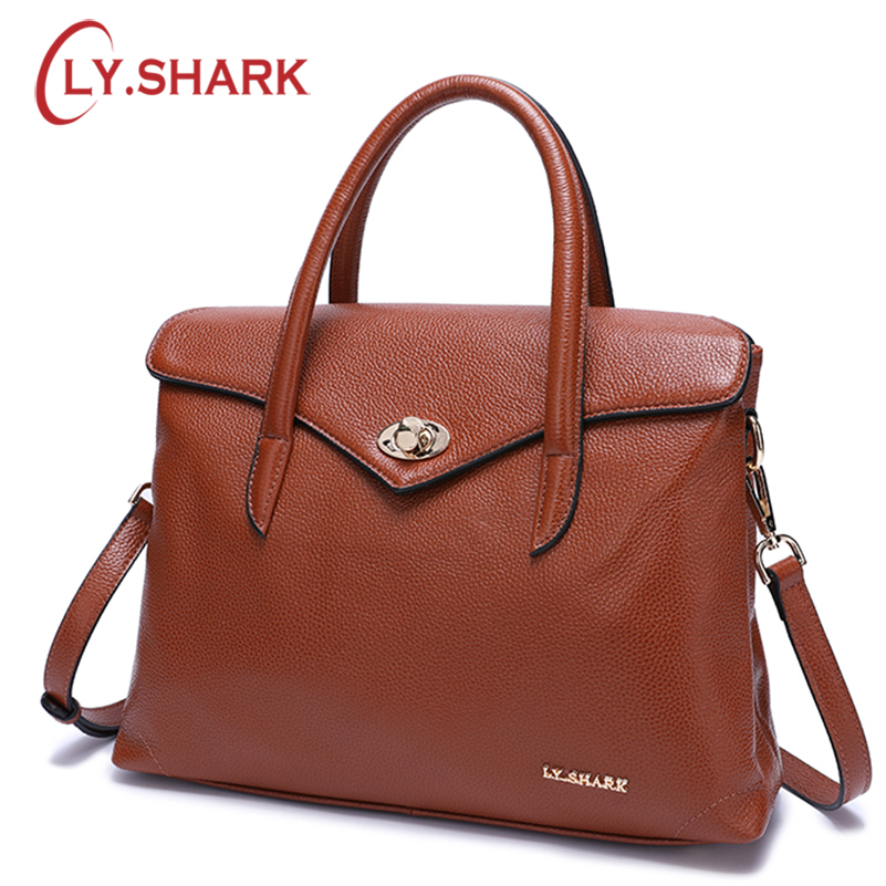 LY SHARK Messenger Bag Women Bag Ladies Genuine Leather Handbag Women Shoulder Bag For Female Bags