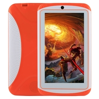 Educación Kids Tablet PC de 7.0 pulgadas 512 MB RAM 4 GB ROM Android 4.4 de Allwinner A33 Quad Core WiFi con Soporte de Silicona caso
