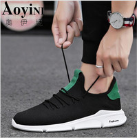 New Casual Shoes Men Comfortable Summer Sneakers Men 2019 Breathable Mesh Sport Lace up Light Fashion Flat Vulcanized Shoes Male