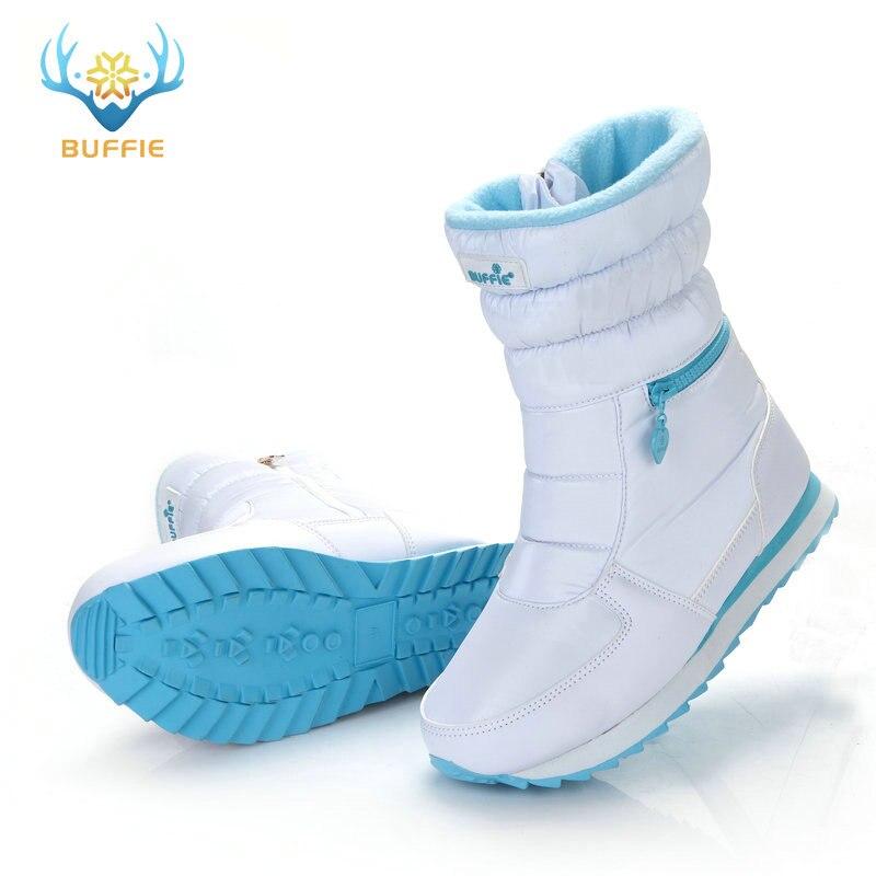 Sepatu bot musim dingin putih, Fashion wanita sepatu salju, Gaya baru - Sepatu Wanita - Foto 6