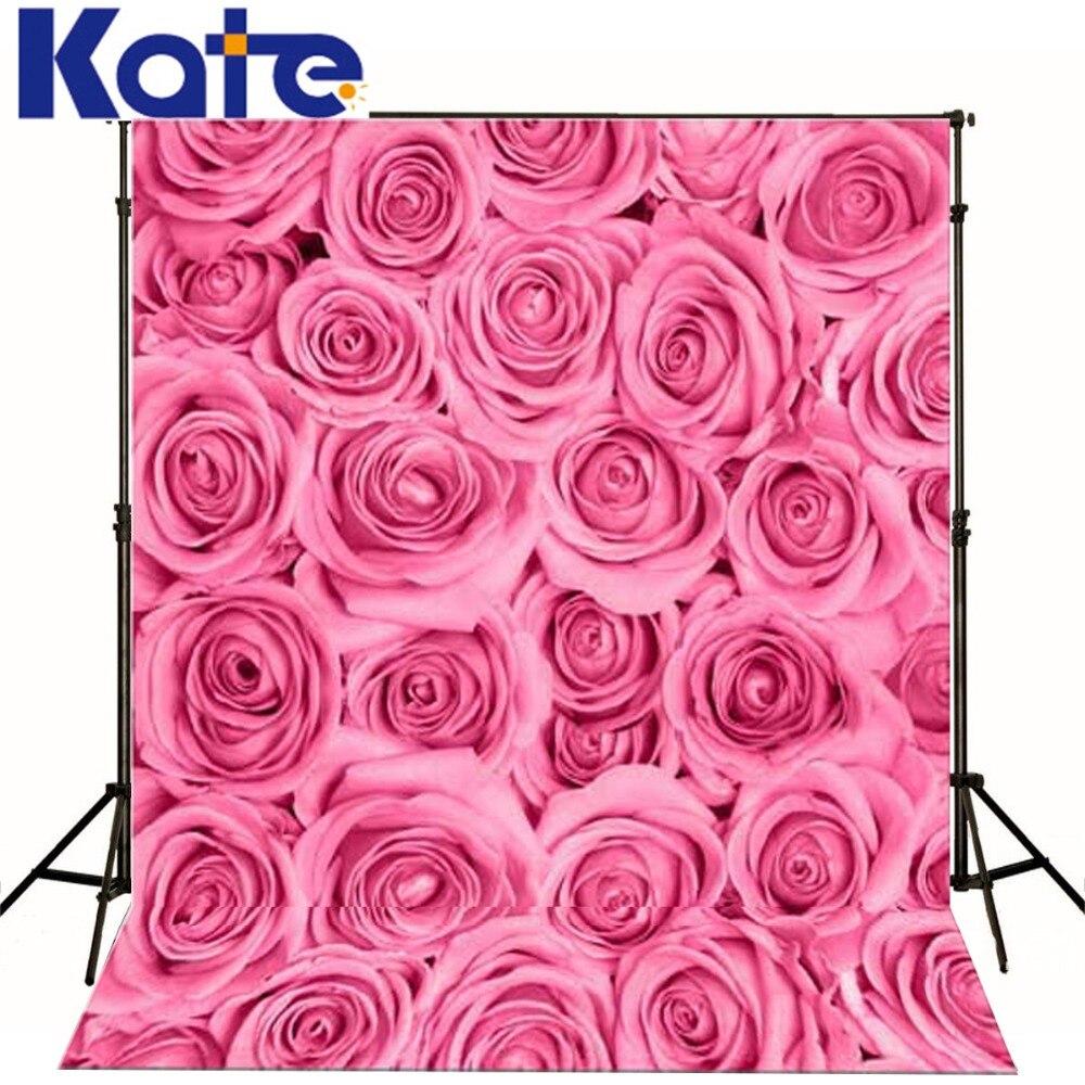 Kate  Digital Printing Photo Studio Backdrop Retro Pink Rose Flowers For Newborn Child Photography Background сумка kate spade new york wkru2816 kate spade hanna