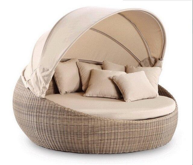 Round Bed Part - 41: 2017 Garden Furniture Wicker Day Bed Outdoor Royal Round Bed