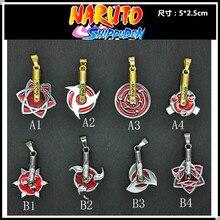 8 stil Anime Naruto Kakashi Leaf Village Symbol Cosplay Konoha Ninja Kostüm Spielen Anhänger Halskette