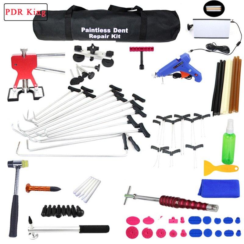 Débosselage sans peinture Outils PDR Outils Kit Grêle Enlèvement de Dommages Voiture Ding Dent De Réparation Tige Crochet PDR Tiges Dent Remover outils