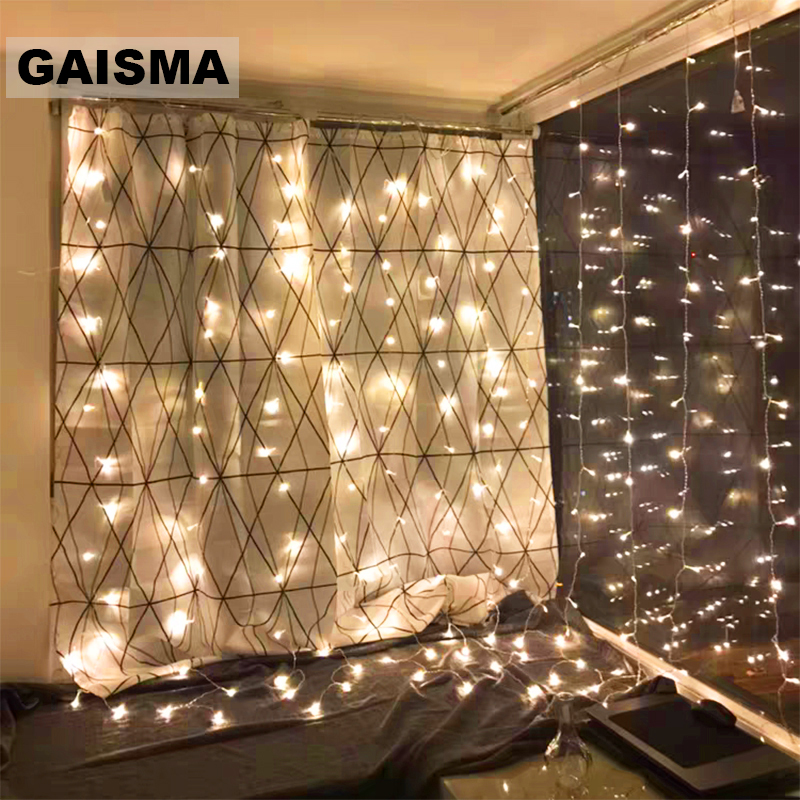 4x3/6x3/10x3M Fairy Icicle LED Curtain Garland Christmas Lights Decoration For Party New Year Wedding Lights Holiday Decor