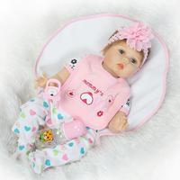 55 cm Reborn Baby Doll Realistic Soft Silicone Reborn Babies Girl silicone boneca reborn lifelike reborn baby doll 22 inch