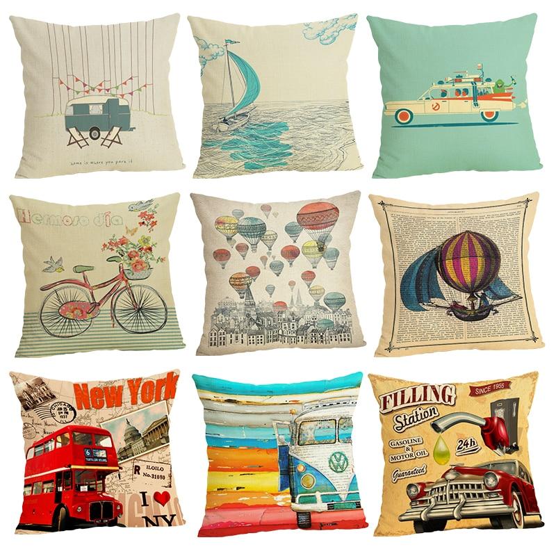 The Skeleton Sofa Cushion Case Home Decor 45Cmx45Cm linen Square Bed Car print Pillow Cover Linen cushion cover