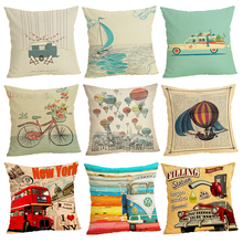 The Skeleton Sofa Cushion Case Home Decor 45Cmx45Cm linen Square Bed Car print Pillow Cover Linen cushion cover