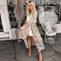 1c34256b855bc TEELYNN long Boho dress rayon 2019 Floral print sexy V-Neck Hippie ...