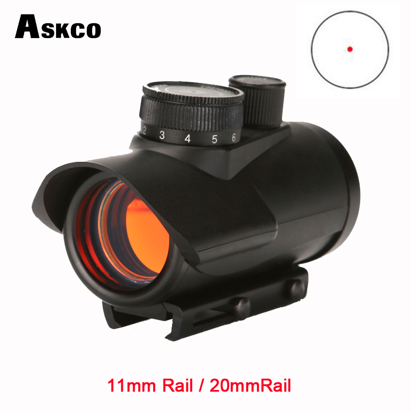 Askco Red Dot Sight Scope Holographic Airsoft Riflescope 1 X 30mm 11mm & 20mm Weaver Rail Mount For Tactical Hunting HD30