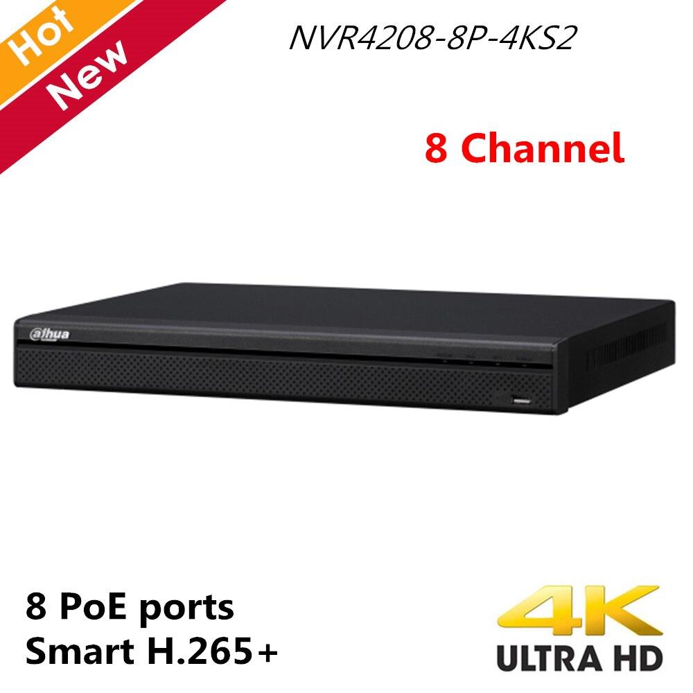 4k Dahua English version H 265 NVR with 2 SATA 8 POE ports 4K NVR 8ch