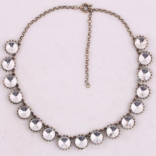 e295ce2dc1 US $7.95  Fashion Jewelry Brand Style Vintage Choker Glass Crystal Dot  Venus Flytrap Statement Bib Necklace for Women 5 colors option-in Choker ...