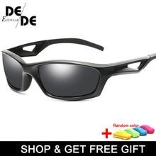 Men Black Frame Polarized Sunglasses Women UV400 Outdoor Sport Driving Glasses Unisex Square  with box