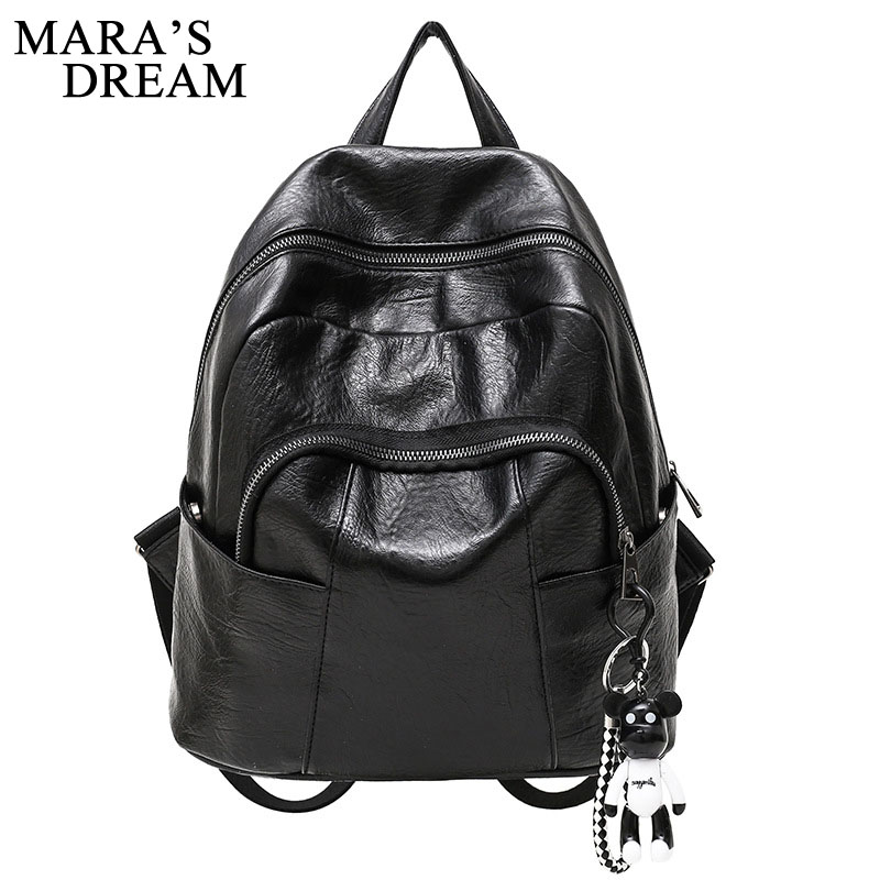 Maras Dream 2018 Women PU Leather Backpack Mini Backpack Rucksack Girls School Bag for Teenager Girls Mochila Shoulder Bagpack