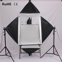 Photo Studio Kit:Shooting Table(Black And White)&Soft Boxes With 30W LED Light Bulb&Shelves Cantilever For Sell Goods