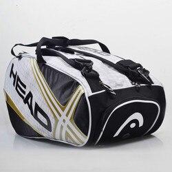 100% cabeza genuina marca Original Raquete De Tenis De respaldo nuevo paquete trasero BOLSA De Tenis 6 piezas De equipo