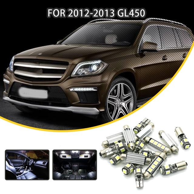 360Lahl 10pcs White Car LED Light Bulbs Interior Package Kit For 2012 2013 Mercedes Benz