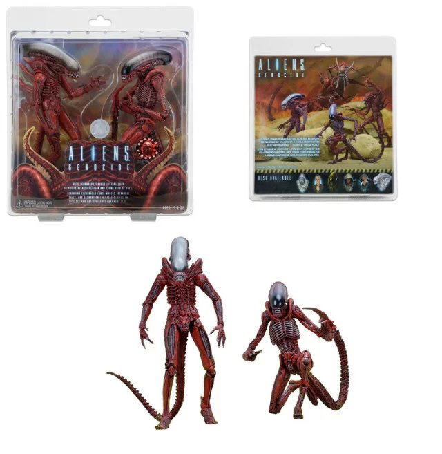 """Hot Sale <font><b>Classic</b></font> Sci-Fi Movie The <font><b>Alien</b></font> NECA Series <font><b>Aliens</b></font> Genocide Red <font><b>7</b></font>"""" Scale <font><b>Action</b></font> <font><b>Figure</b></font>"""
