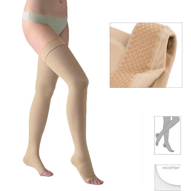23-32 mmHg Pressão Meia-calça de Cintura Alta Firm Compressão Graduada Moderado Apoio Meias para As Mulheres