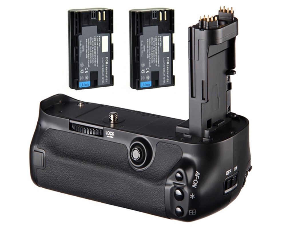 bilder für Neue Multi-power Vertikaler Batterie-griff-halter-satz + 2x LP-E6 Akku 1800 mah für canon eos 5d mark iii 5 diii 5d3 kamera bg-e11
