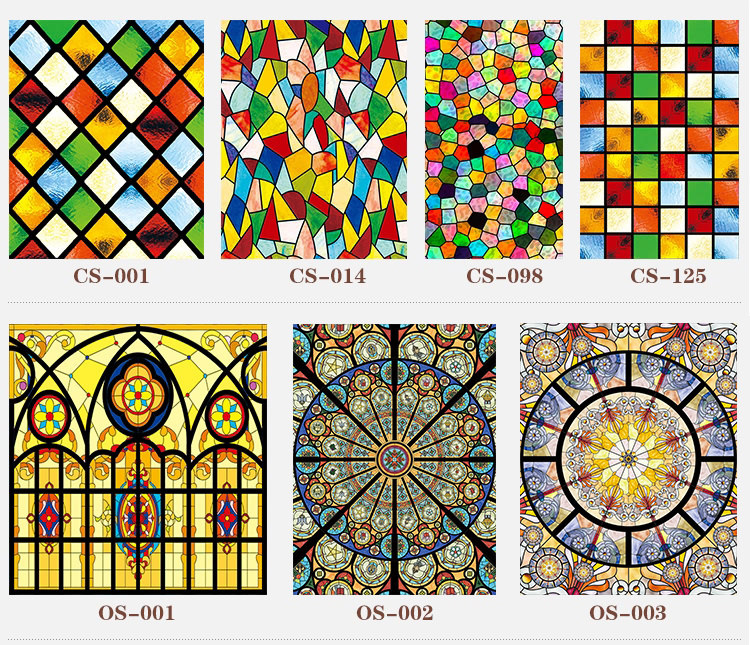 30 New Styles Custom Electrostatic Frosted Stained Glass