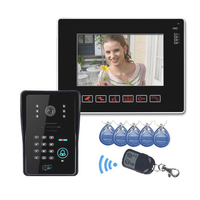 Bestseller Video Doorbell Door Phone Intercom System Access Control System With 9 inches Color LCD Indoor IR Led Camera Outdoor number