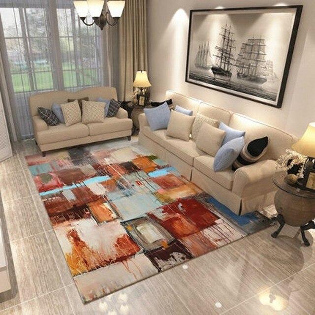 PAYSOTA Moderne Tapijt Minimalistische Abstracte Kunst Sofa ...