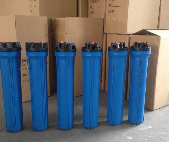 blue thick explosion-proof water purifier housing filter bottle accessories 20 inch 1/2 inch port  water inlet industrial vacuum pump intake filter in housing 2 rc inlet