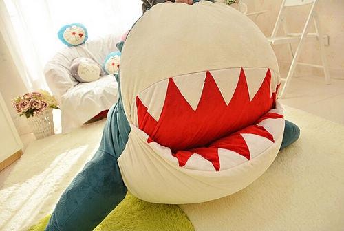 Fancytrader Huge Giant Shark Sleeping Bag Beanbag Sofa Bed Carpet Tatami Plush Stuffed 2 Colors FT90358 (11)