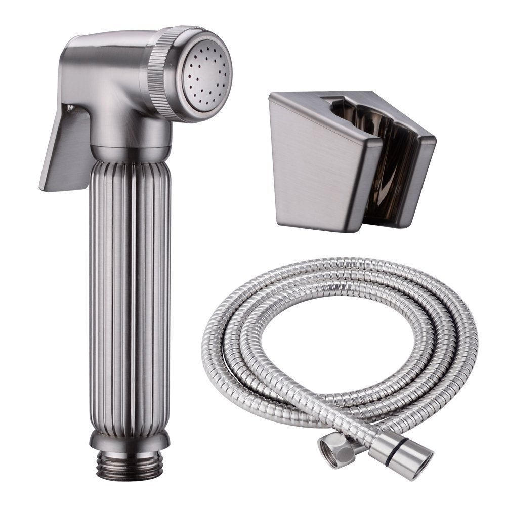 Stupendous Us 94 43 Brushed Nickel Brass Toilet Handheld Bidet Sprayer With Hose And Bracket Holder Toilet Attachment Cloth Diaper Sprayer In Bidets From Home Gamerscity Chair Design For Home Gamerscityorg