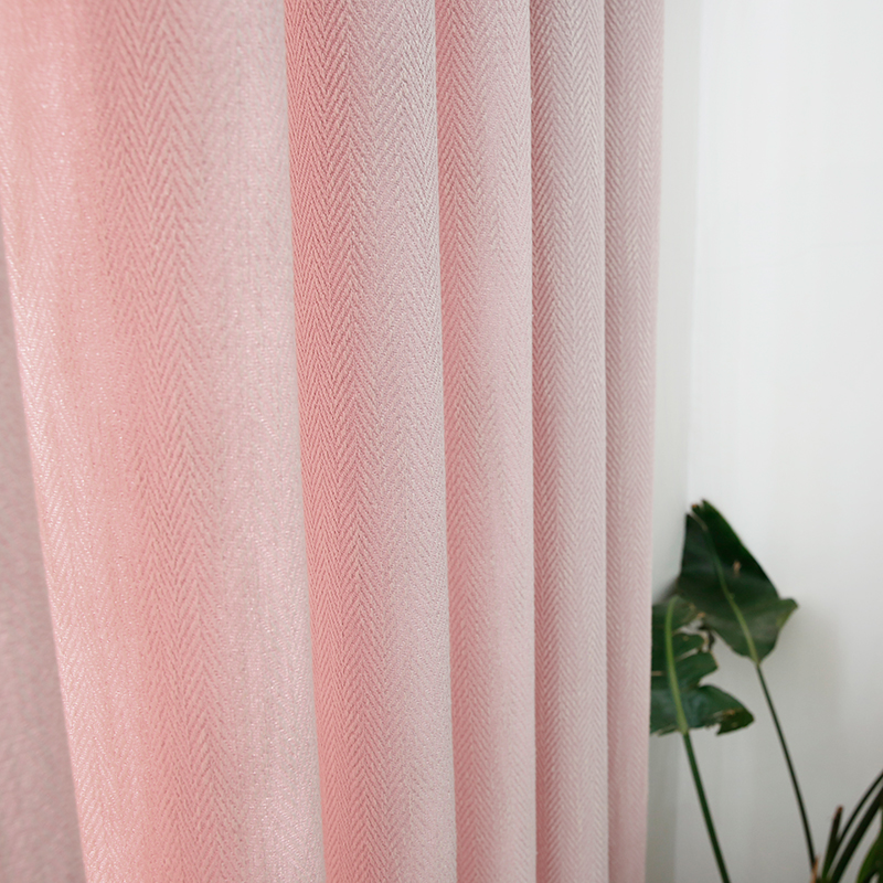 Chicity Blackout Curtains For Living Room Pink Princess Style Curtain For Girls Bedroom Stripe Curtain For Kitchen Customized